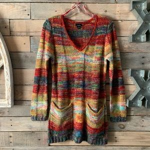 Colorful Hippie Long Sweater